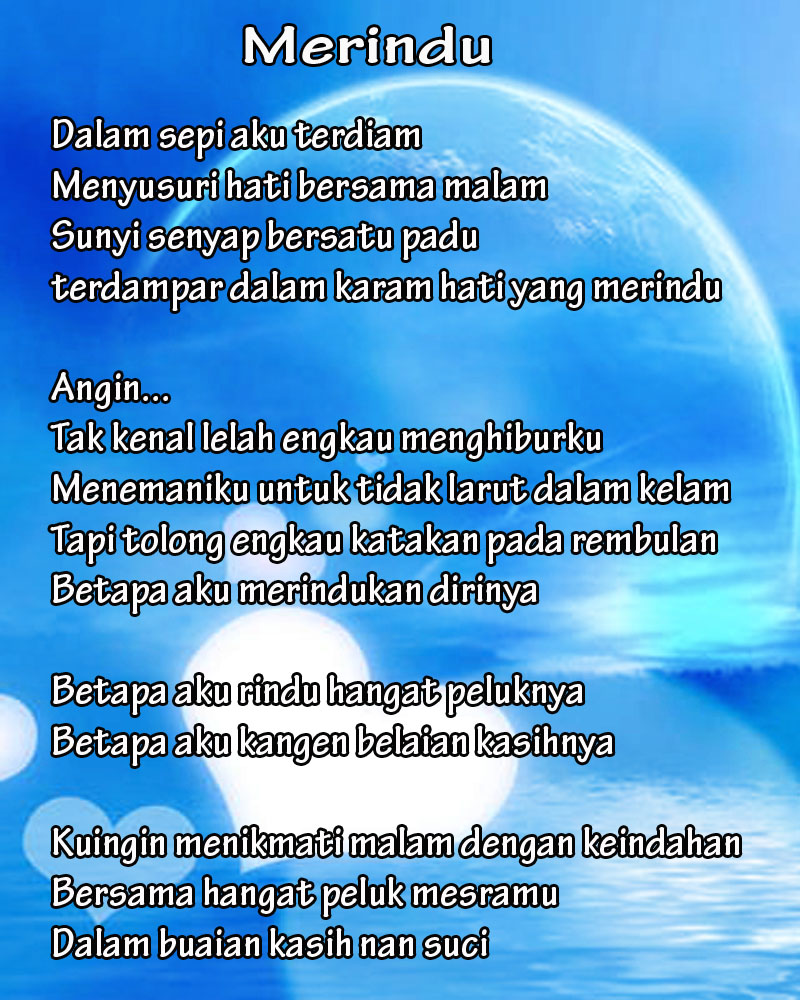 Contoh Puisi Cinta Kangen Kekasih, picture size 800x1000 posted by