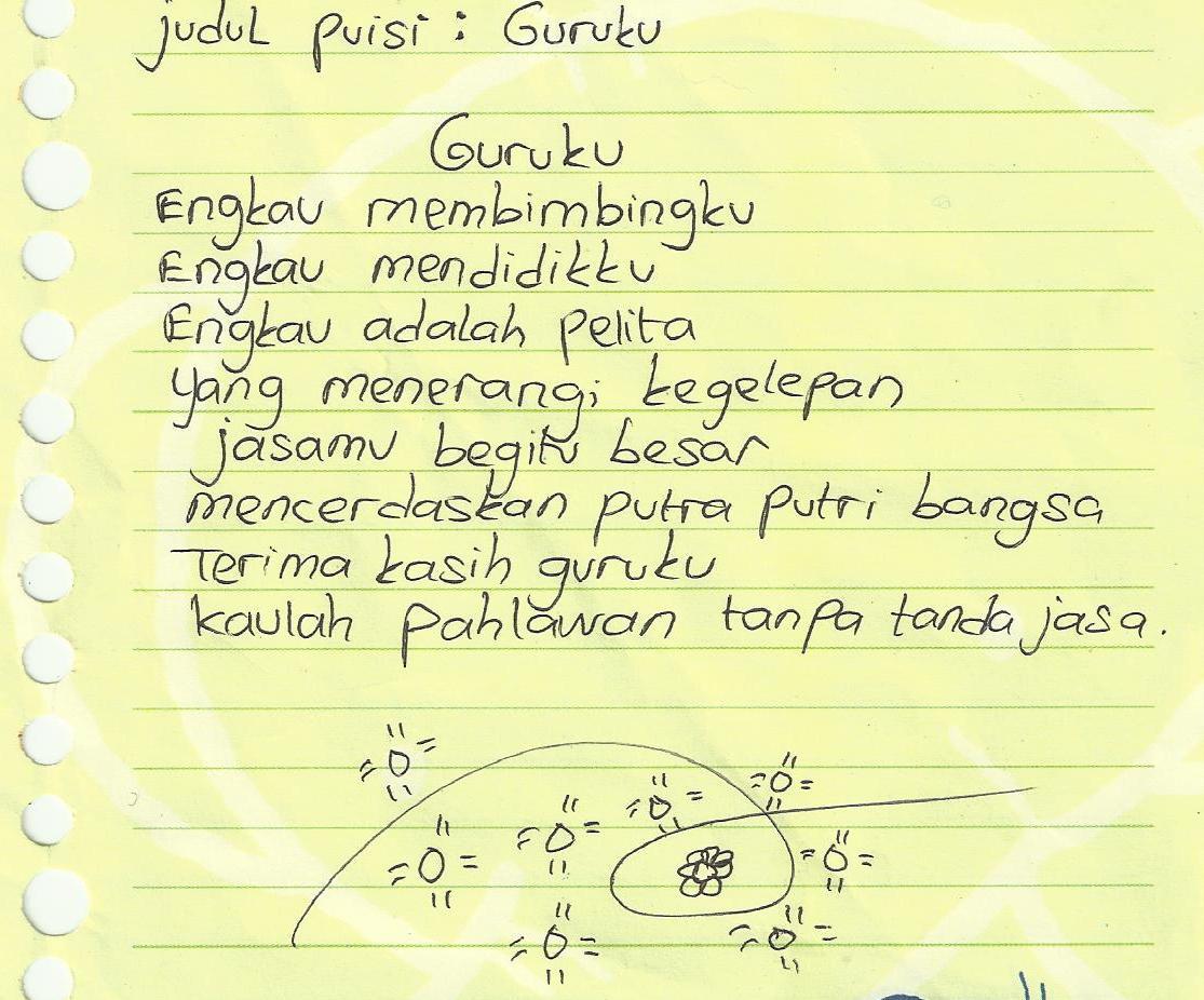 Contoh Puisi Untuk Guru Tercinta