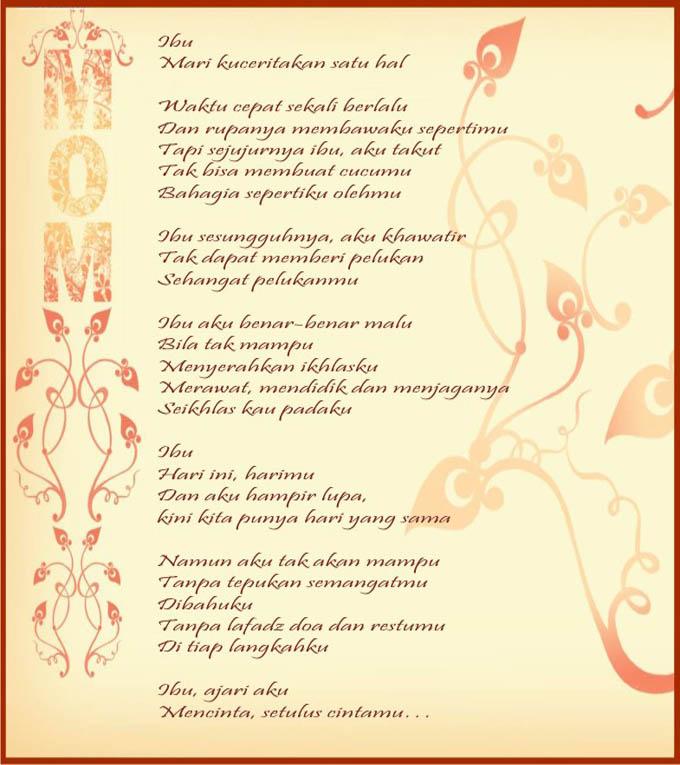 Contoh Puisi Untuk Ibu Tersayang Dalam Bahasa Inggris